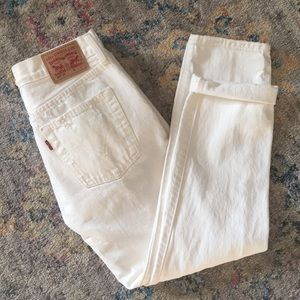 Levi's 501 ct white jeans 26x32 NWOT